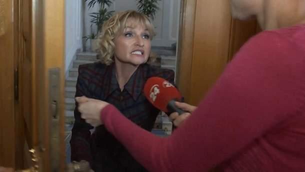 Дружина Луценка виштовхала вагітну журналістку через незручне питання