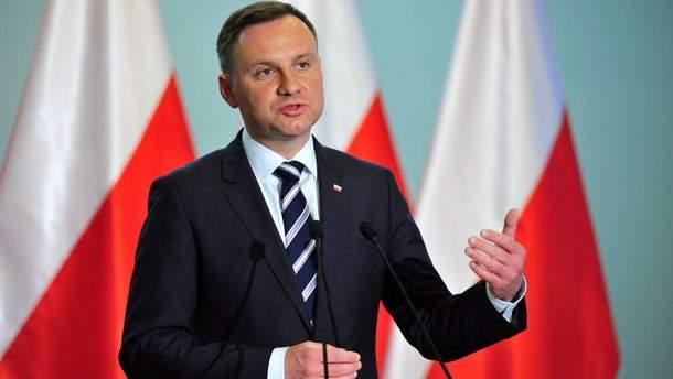 Дуда заявив, що українці не створюють проблем для Польщі