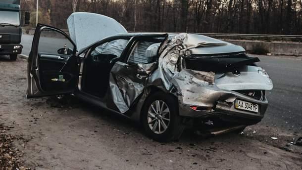 Зіткнення авто Лещенка та фури: опублікували відео моменту ДТП