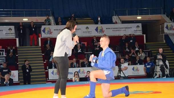 Украинский самбист сделал предложение своей девушке на чемпионате мира