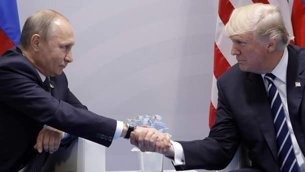 У мережі висміяли вітання Путіна з Трампом в Парижі