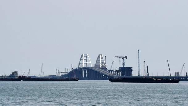 В окупованому Криму заявили про завершення важливого етапу будівництва Кримського мосту