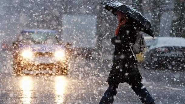 14 ноября в Украине будет идти мокрый снег