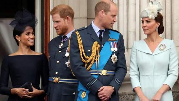 Принц Гаррі та Меган Маркл, принц Вільям та Кейт Міддлтон