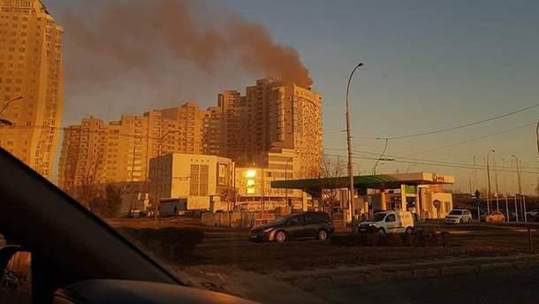 Пожар в столичной многоэтажке