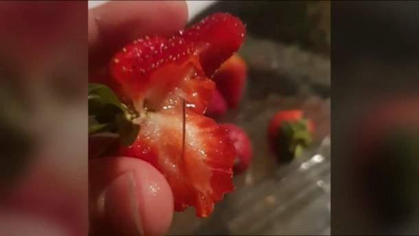 В австралійських фруктах виявили голки