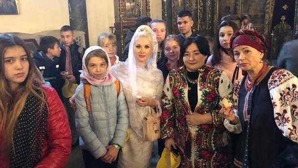 Катя Бужинська на зустрічі зі Вселенським Патріархом Варфоломієм