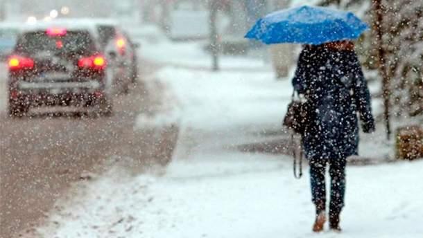 В Україні вночі 15 листопада буде падати сніг