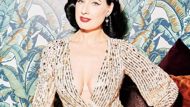 Золотое платье с глубоким декольте: Дита фон Тиз рассекретила пикантный лайфхак
