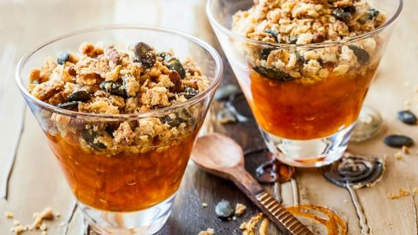 Крамбл из тыквы и апельсина: рецепт блюда