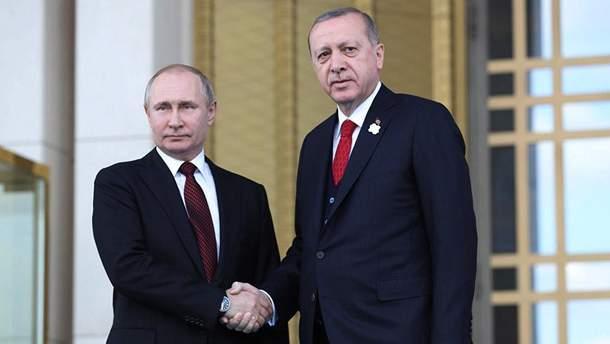Володимир Путін і Реджеп Таїп Ердоган