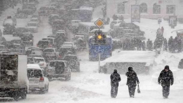 Синоптики попередили про потужні снігопади в Україні