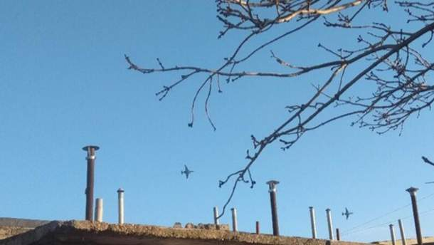 Бойові літаки РФ над Керченською протокою