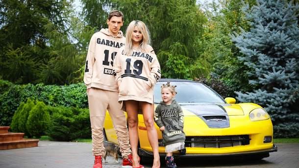 Денис Гармаш з дружиною Сніжаною та дочкою Міланою