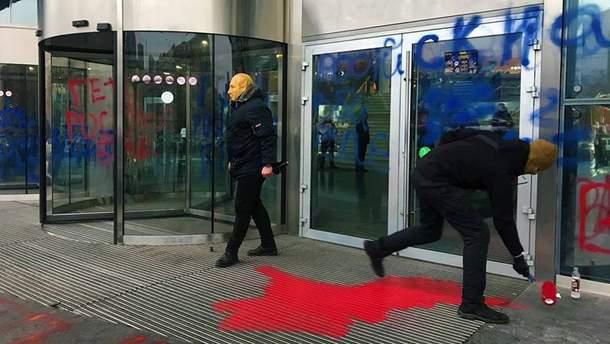 "У Киева возле ТРЦ ""Ocean Plaza"" устроили акцию протеста"