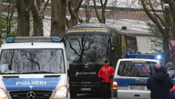 """11 квітня біля автобусу """"Боруссії"""" (Д) пролунав вибух"""