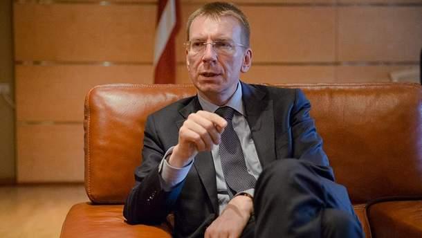 Міністр закордонних справ Латвії Едгарс Рінкевичс закликає негайно звільнити українських моряків