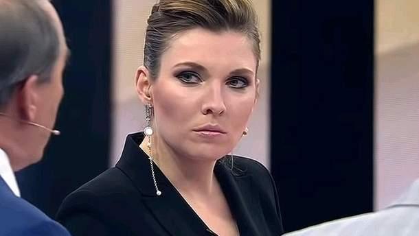 Російська пропагандистка Ольга Скабеєва поширила черговий фейк