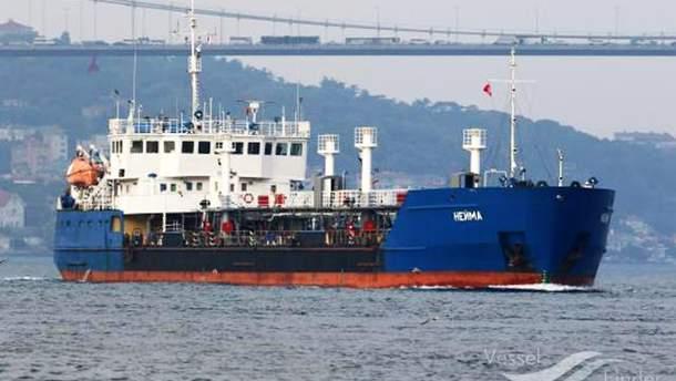 Танкер NEYMA был одним из тех судов, которые блокировали движение украинских кораблей в Керченском проливе