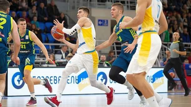 Сборная Украины победила Словению