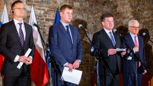 Вишеградська четвірка висловила підтримку Україні через дії Росії в Азовському морі