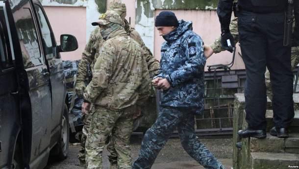 Захваченных украинских моряков таки переводят в московское СИЗО