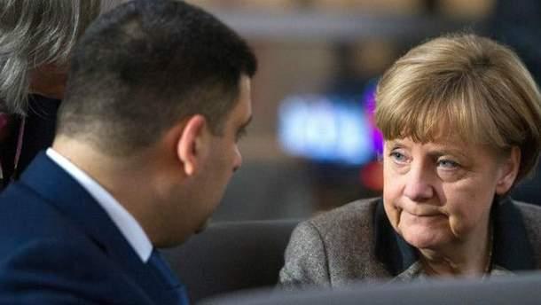 Гройсман встертился с  Меркель