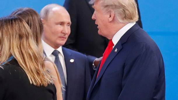 Путин и Трамп на саммите G20