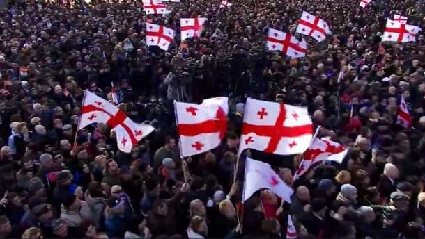 Митинг в Тбилиси