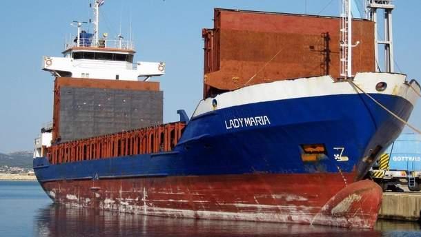 Одно из судов, которое попало в аварию, - Lady Maria