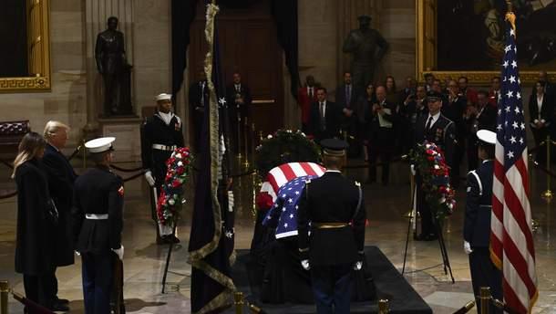 В Вашингтоне проходит церемония прощания с Джорджем Бушем-старшим: фото и видео