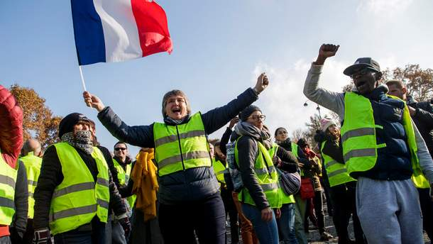 Картинки по запросу желтые жилеты франция протесты картинки