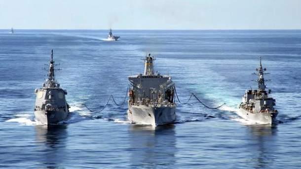 Россия захватила украинские корабли в международных водах