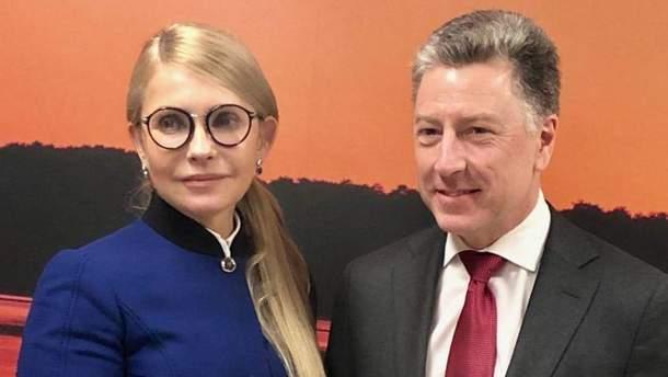 Юлия Тимошенко встретилась с Куртом Волкером