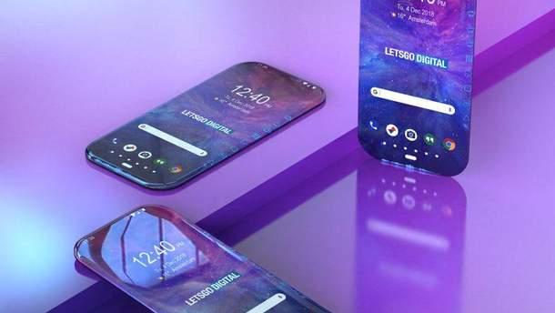 Samsung запатентовала интересный безрамочный смартфон