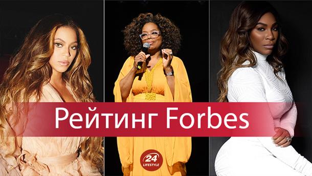 Бейонсе, Тейлор Свіфт та Опра Уінфрі у рейтингу Forbes