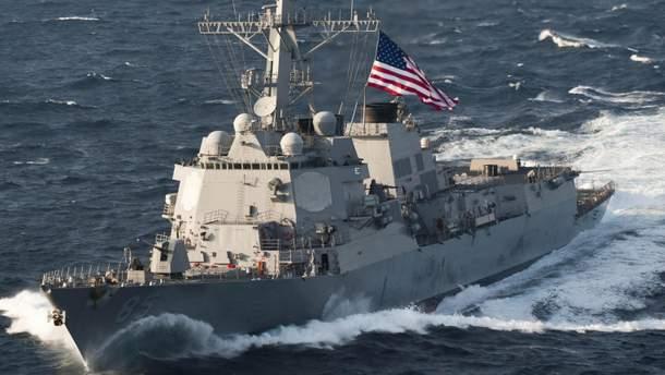 Американский эсминец проплыл вблизи Владивостока