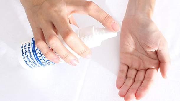 Шкода антисептиків для рук