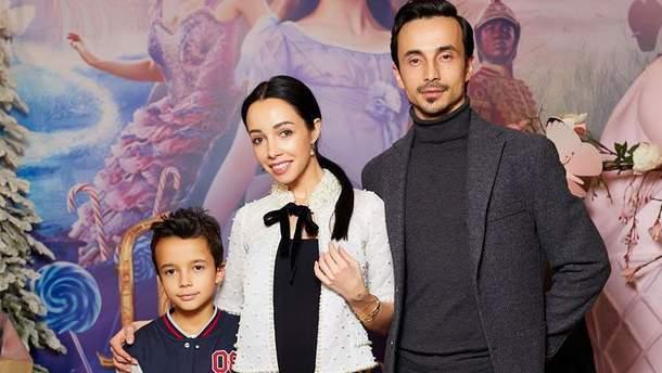 Катерина Кухар з чоловіком та сином