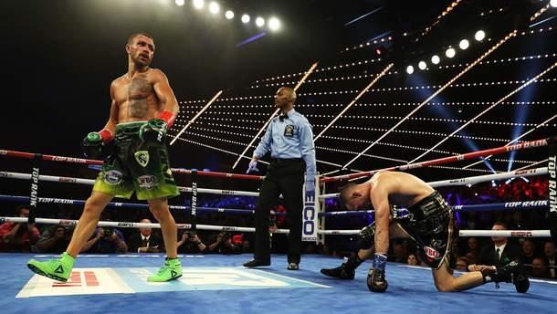 Український боксер Ломаченко став володарем двох чемпіонських поясів у легкій вазі  (відео)