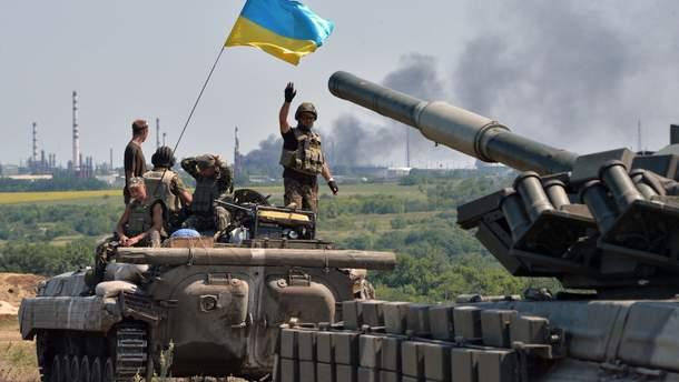 В оккупированном Луганске появились желто-голубые поздравления ко Дню Вооруженных сил Украины