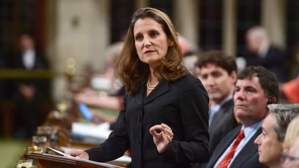 Министр иностранных дел Канады Христя Фриланд