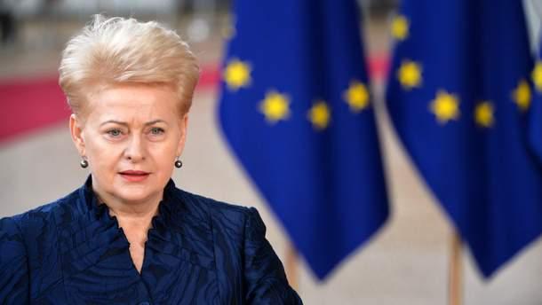 """Россия угрожает министрам Литвы из–за """"морских"""" санкций, – Грибаускайте"""