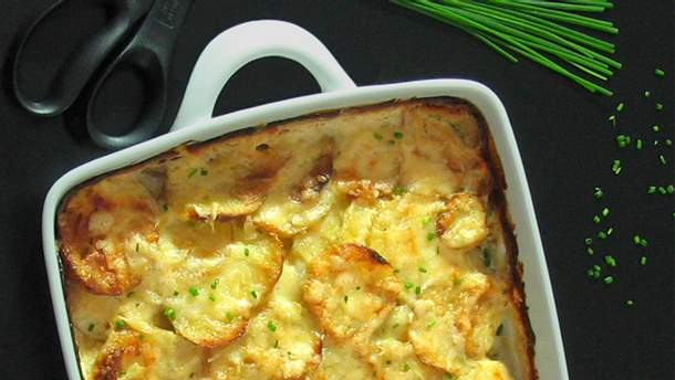 Запеченный картофель в сливочном соусе