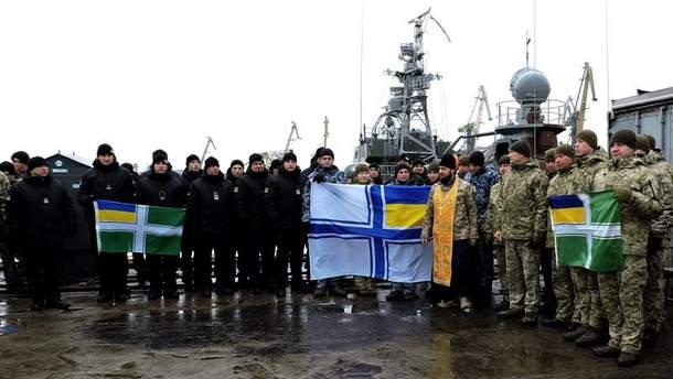 Бійці Об'єднаних сил підтримали полонених українських моряків