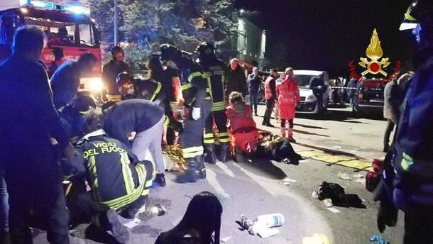 Украинцы не пострадали во время смертельной давки в Италии
