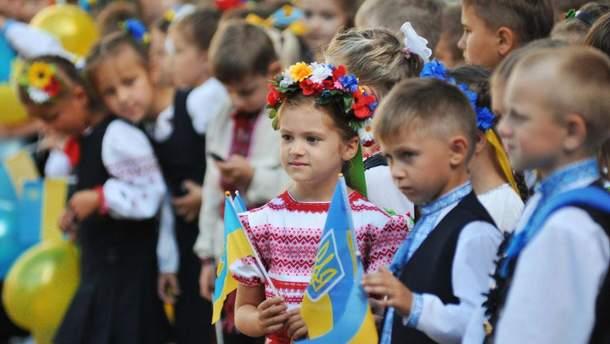 Большинство школьников получает образование на украинском языке