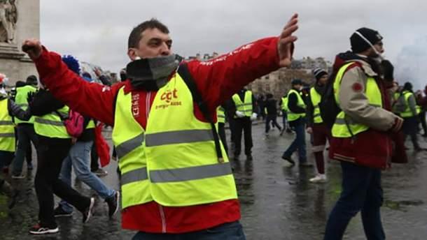 """В Нидерландах сотни """"желтых жилетов"""" вышли на акции протеста"""