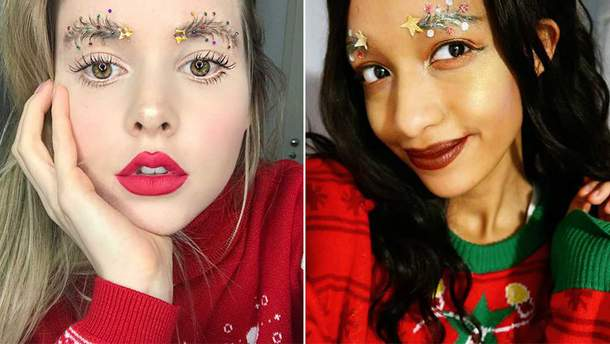 Рождественские брови: новый бьюти-тренд в сети
