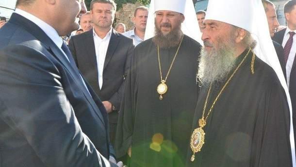 Порошенко попросил главу УПЦ МП Онуфрия помочь освободить украинских моряков